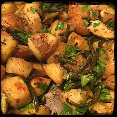 #Roasted # Potatoes & #Scapes  #Homemade #CucinaDelloZio -