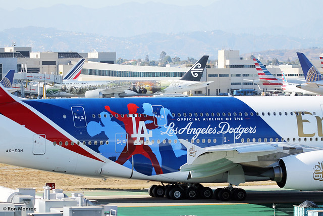 Special Livery, Emirates - Los Angeles Dodgers, Airbus A380-800