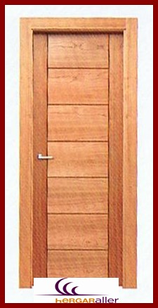 Puerta de entrada o de paso con entrepa os ranurados se pu - Hacer puertas de madera ...