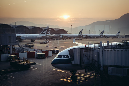 Sunrise at the Hong Kong International Airport | by Benson Kua