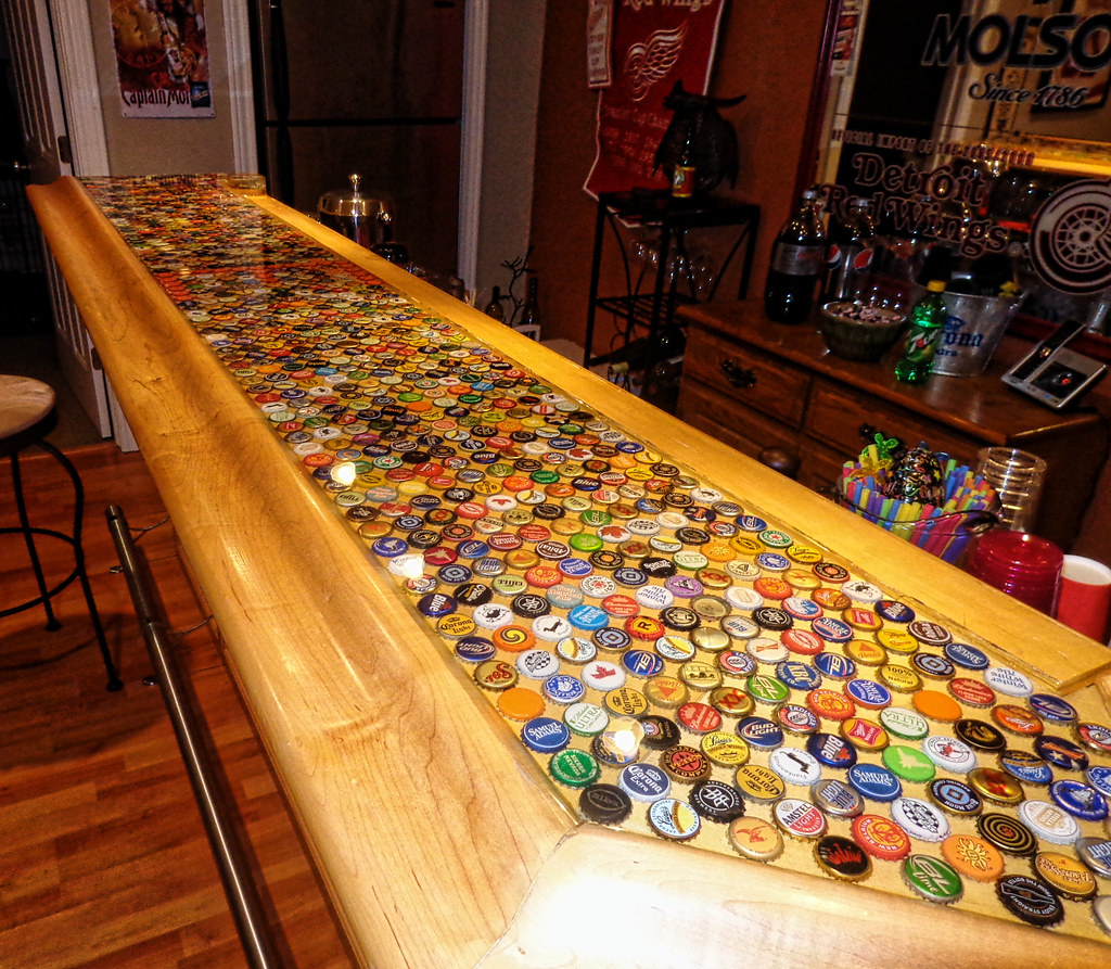 Genial ... Bottle Cap Bartop | By BestBartopEpoxy.com