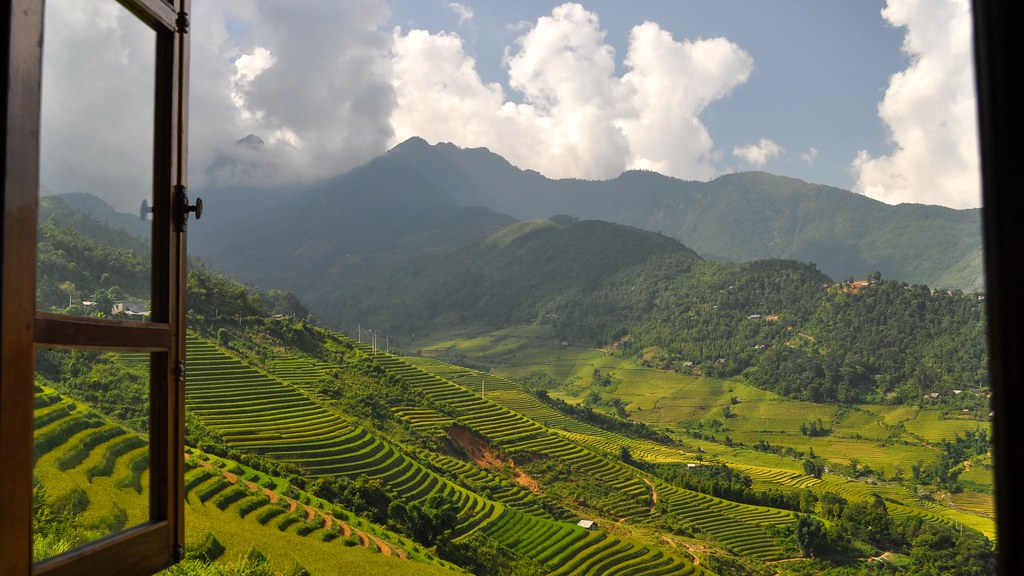 View from Topas Ecolodge, Lao Cai Province, Vietnam
