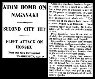 9th August 1945 - Atom bomb dropped on Nagasaki | by Bradford Timeline