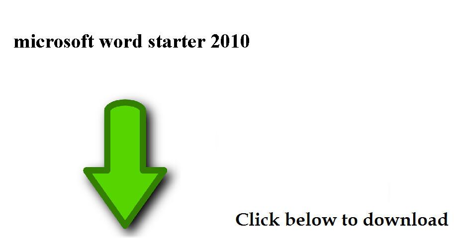 downloading microsoft word starter 2010