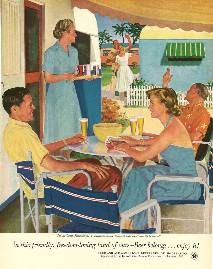 079. Trailer Camp Friendships by Douglass Crockwell, 1953