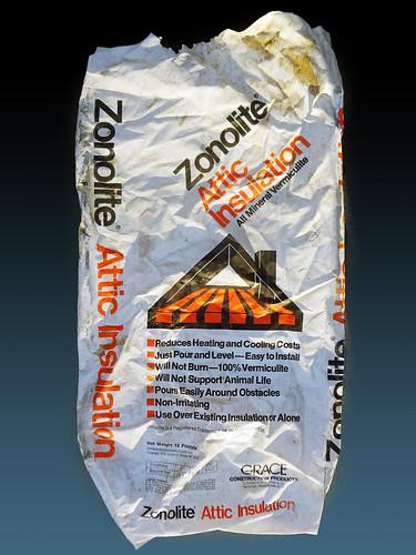Wr Grace Zonolite Plastic Bag Asbestorama Flickr