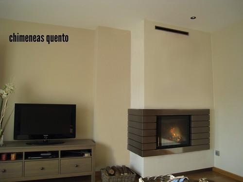 Chimenea quento modelo exo con marco lamas - Marco de chimenea ...