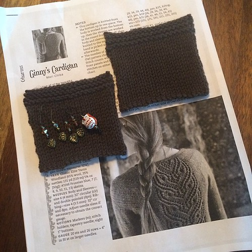 Blocked pocket swatches and cute stitch markers!! #instaravginnykal #yay | by sushipie