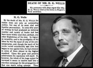 13th August 1946 - Death of H.G. Wells | by Bradford Timeline