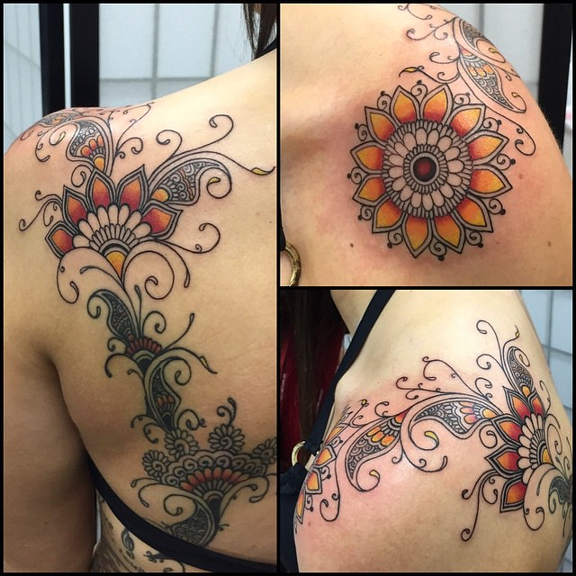 More Added To The Huge Henna Style Tattoo Today Top Porti Flickr