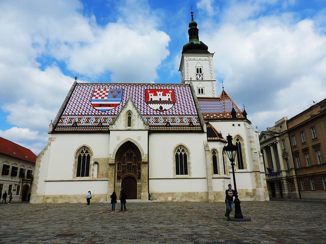 Croatian Itinerary: St Mark Square, Zagreb, Croatia