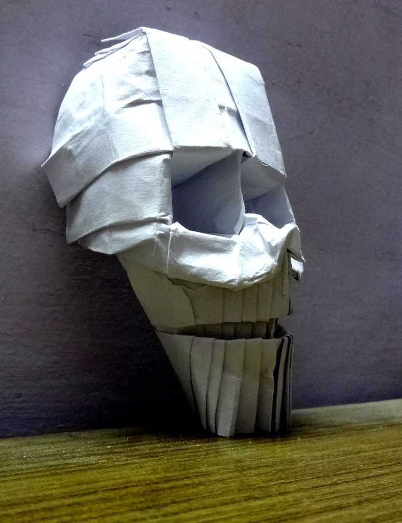 Origami Skull Prototype Designed And Folded By Me From C Flickr