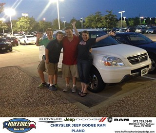 Thank you to ed and melody benson on the 2003 honda pilot for Benson honda san antonio