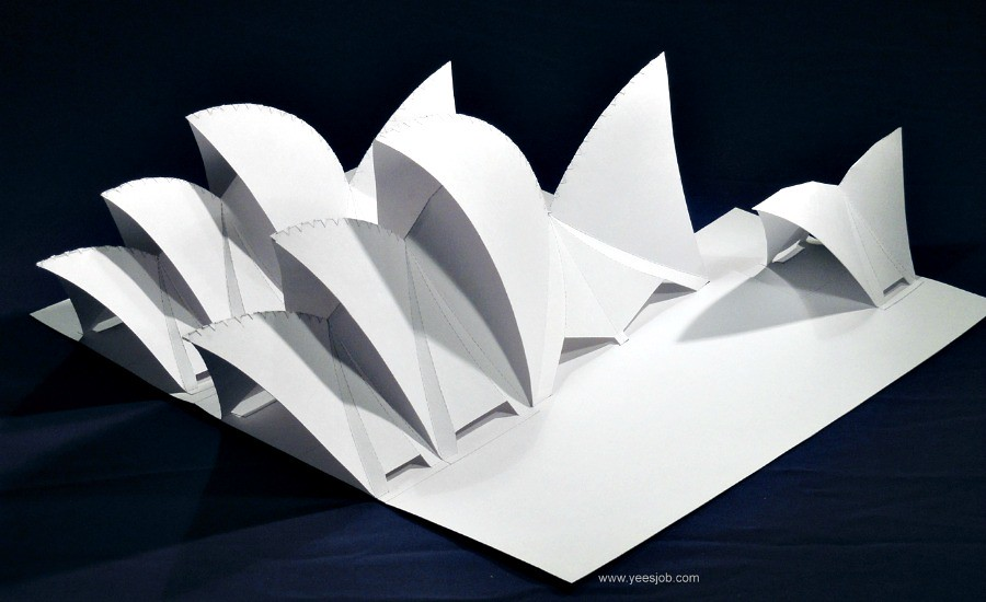 Opera house paper model