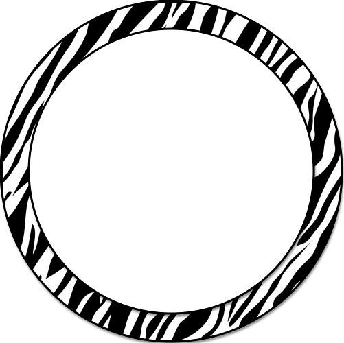 Zebra Circle Border | Frames | Keila Derringer | Flickr