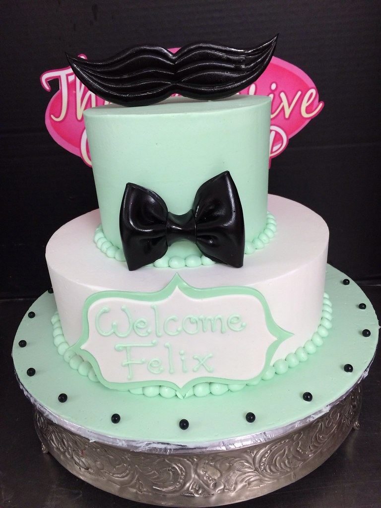 Mustache Baby Shower Cake Exclusive Cake Shop Flickr