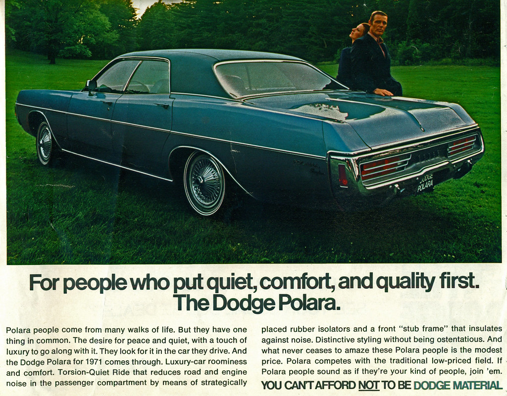 1971 Dodge Polara Brougham 4 Door Hardtop Coconv Flickr By