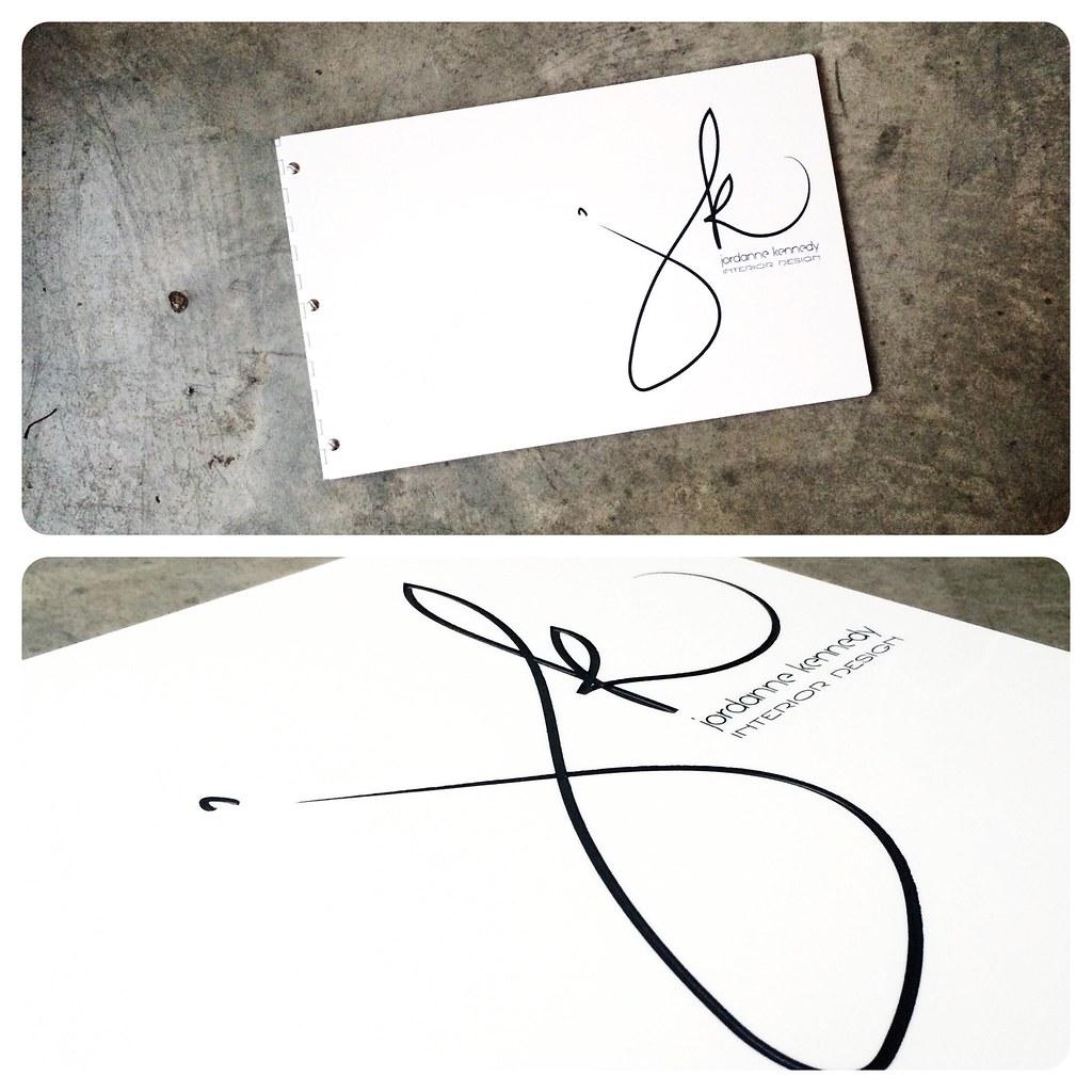 custom interior design portfolio book with engraved color flickr
