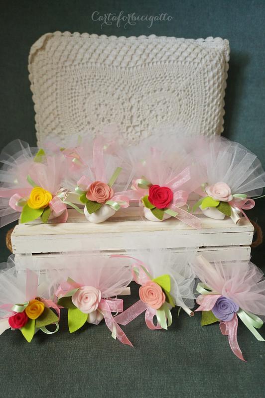 Una cascata di fiori per un battesimo
