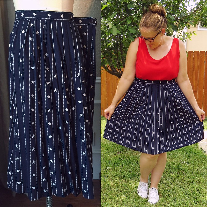 Stars and Stripes Skirt - Before & After