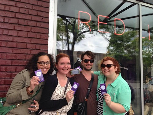 Scoring vouchers for Yahoo! On the Road #Seattle at Red Light Vintage & Costume #Yontheroad | by Yahoo On the Road