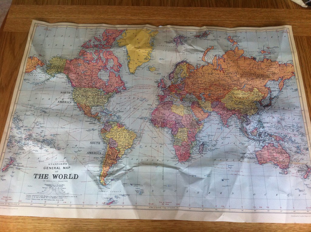 Stanfords general map of the world probably the best fat flickr stanfords general map of the world probably the best fathers day present wrapping paper ever gumiabroncs Choice Image