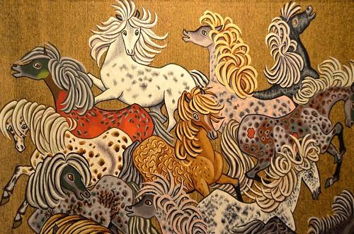 Tapisserie de dom robert western carton de 1965 d tai - Galerie nationale de la tapisserie beauvais ...
