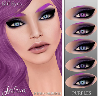 Elif Eyes - Purples | by Mayaa Thistle / Apsara / Jalwa / Bilo