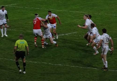 Stade Gilbert Brutus: Catalan Dragons Perpignon 30:14 Huddersfield Giants (Rugby League)