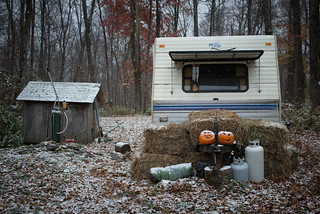 Camper in First Snow of 2013 | by goingslowly