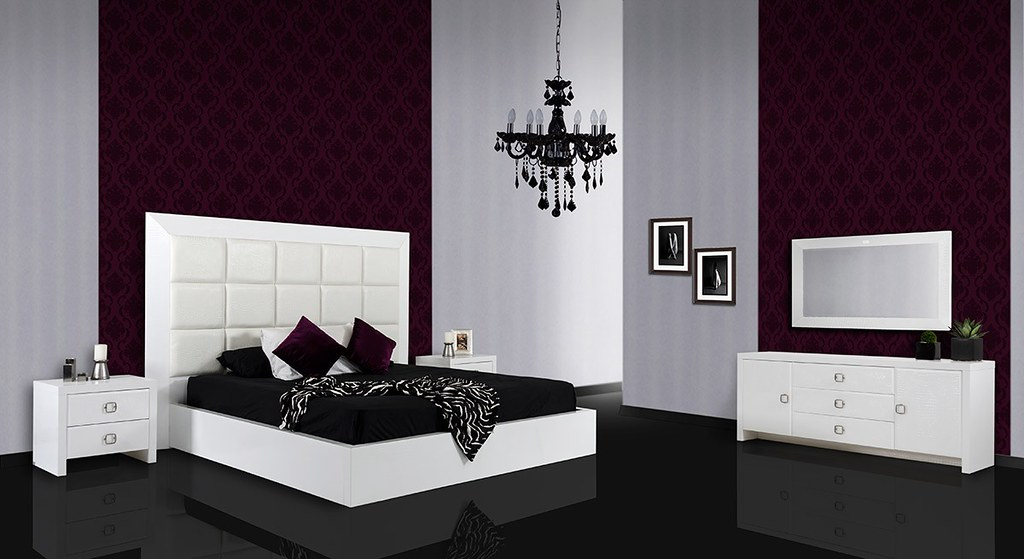 Modern Lacquer Bedroom furniture in White color - VGUNAA21… | Flickr