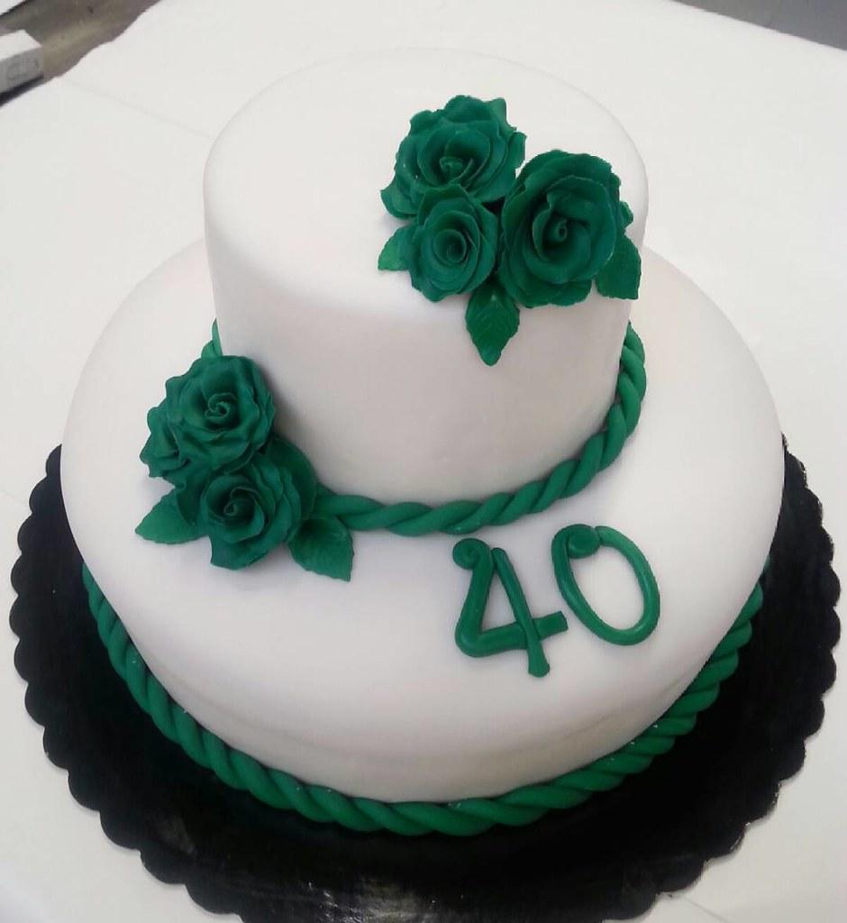 Famoso Torta per i 40 anni! 💚 #cake#torte#torta#pastadizucchero#… | Flickr OP28