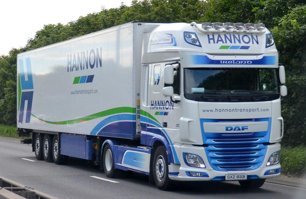 Gxz 8331 Daf Xf106 Euro 6 Of Hannon Ireland Kingston Upo Flickr