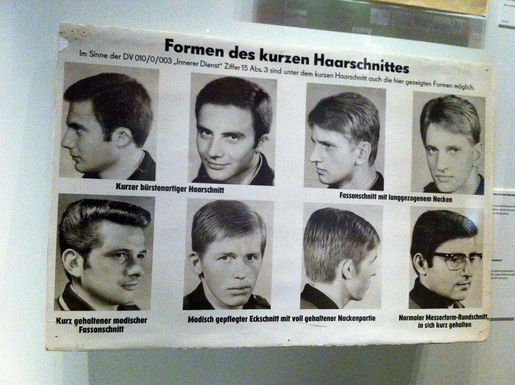 The Five Types Of Haircut Acceptable In The East German Ar Flickr