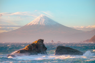 Rough Sea and Mt Fuji [Explore] | by -TommyTsutsui- [nextBlessing]