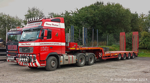 Lochwinnoch motors volvo fh16 600 6x4 with broshuis 4 axle Shepherds motors