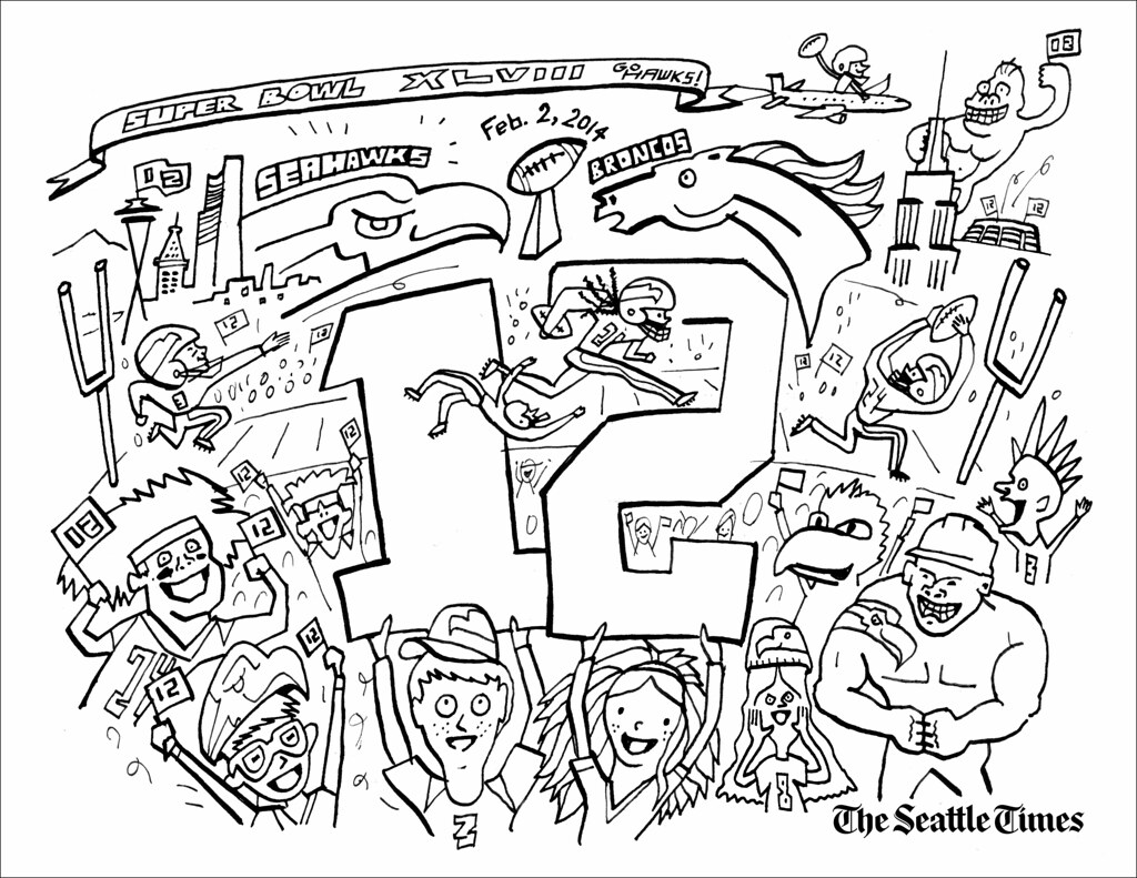 SeaHawks Coloring page | 12th Man Kids: Color your own Super… | Flickr
