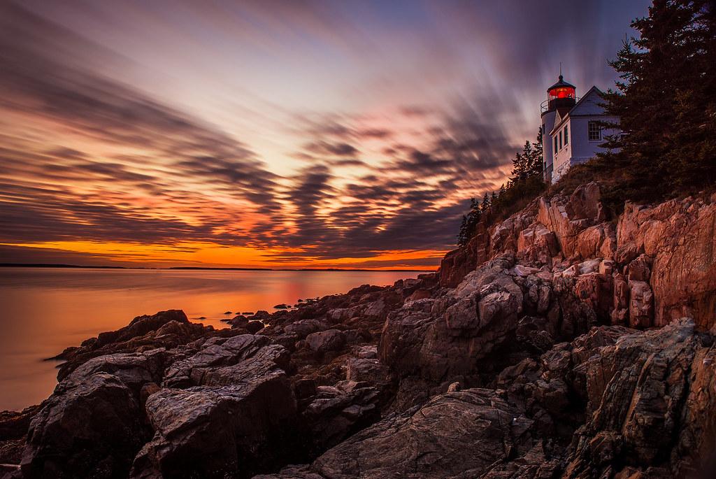 Bricker Sunset at Bass Harbor Head Light in Acadia National Park   by Tom.Bricker