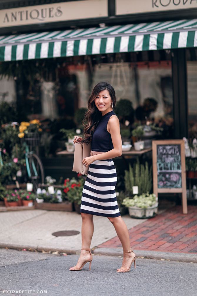 summer work fashion_navy white stripes_boston blogger
