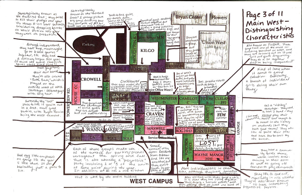 West Campus Map A Color Coded Guide To Duke Living Group Flickr - Duke west campus map