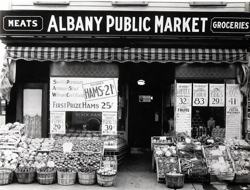 albany public market central ave  albany ny 1930s old