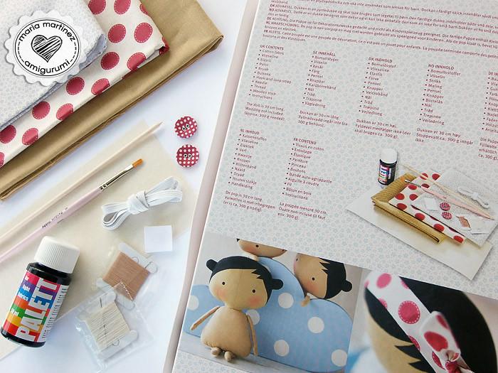 Muñeca Tilda: Kit con patrones, telas y materiales | Flickr