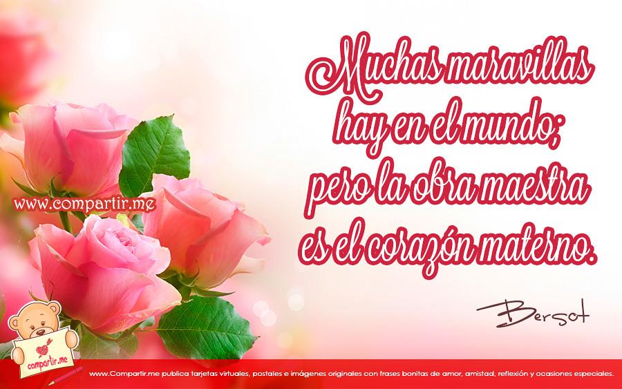 Frases De Amor Frase Celebre Para Una Madre En Su Dia Po Flickr