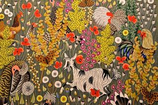 Tapisserie de dom robert plein champ carton de 1970 d - Galerie nationale de la tapisserie beauvais ...
