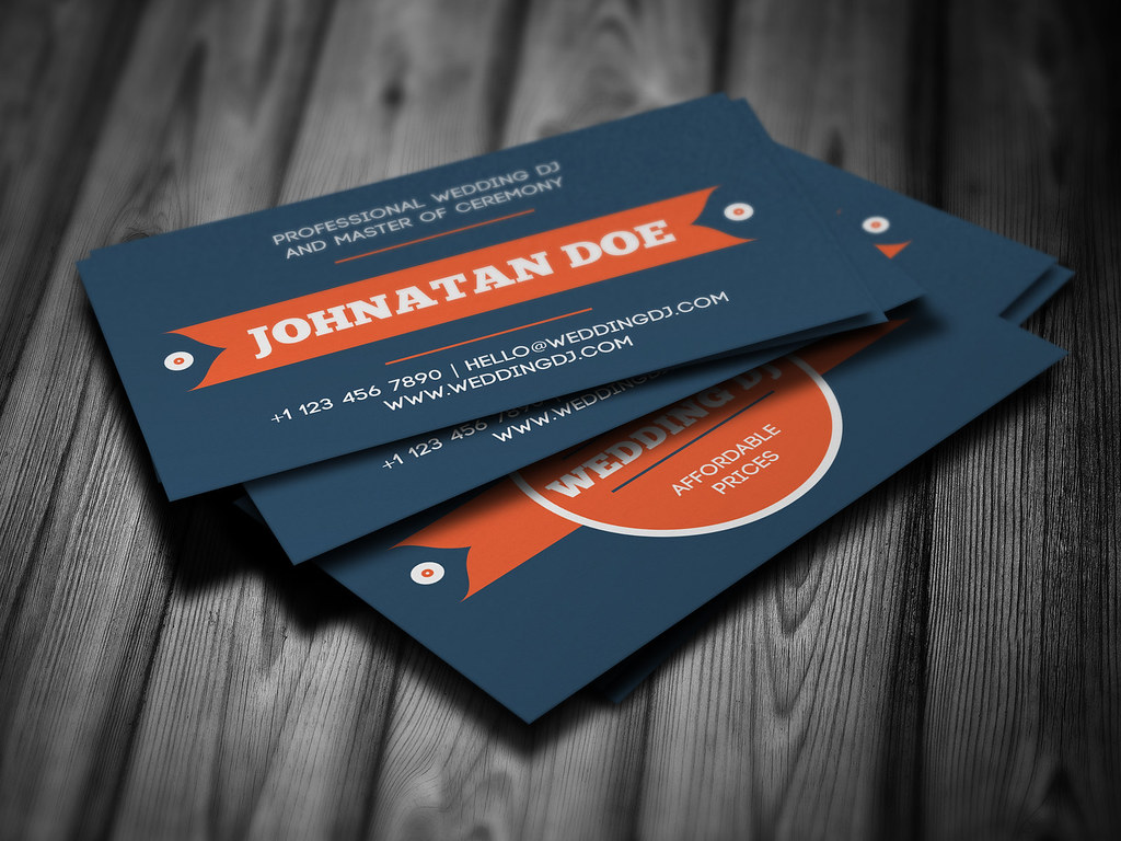 Wedding DJ Business Card | 2-side business card template for… | Flickr