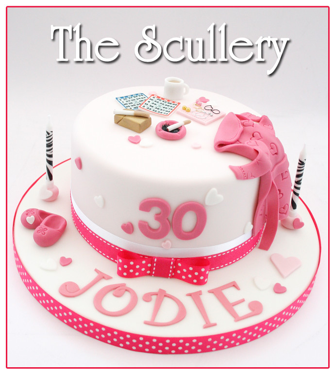 Ladies 30th Birthday Cake The Scullery Louise Flickr