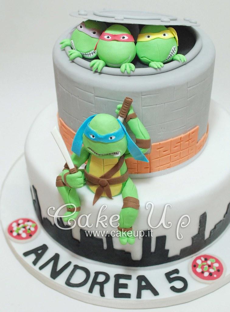 Ninja Turtles Cake Torta Tartarughe Ninja Leonardo Flickr