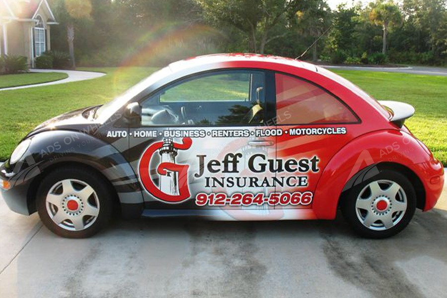 Vehicle wraps graphics vinyl fleet large format car