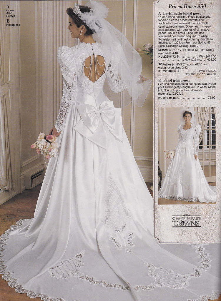 From a mid 90\'s JC Penney Bridal catalog | A gorgeous gown! … | Flickr