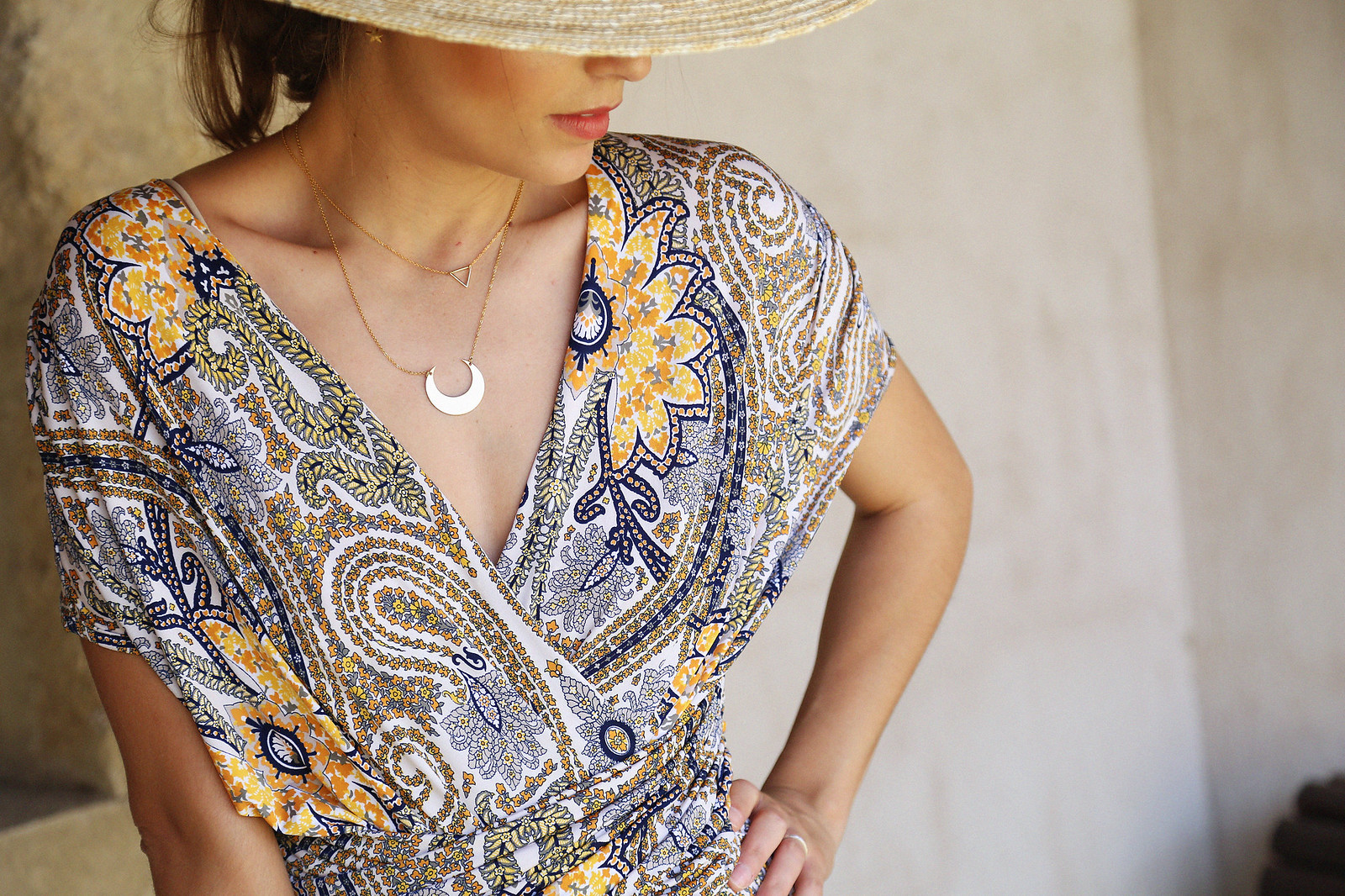 jessie chanes seams for a desire paisley jumpsuit summer hat chloe bag-6